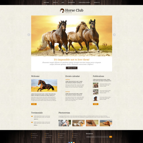 Horse Club - Joomla! Template based on Bootstrap