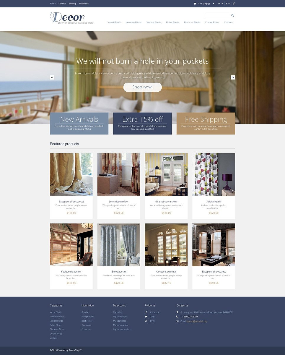 Responsive Decor Store PrestaShop Theme New Screenshots BIG