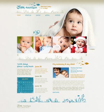 Responsywny szablon strony www #46029 na temat: noworodek