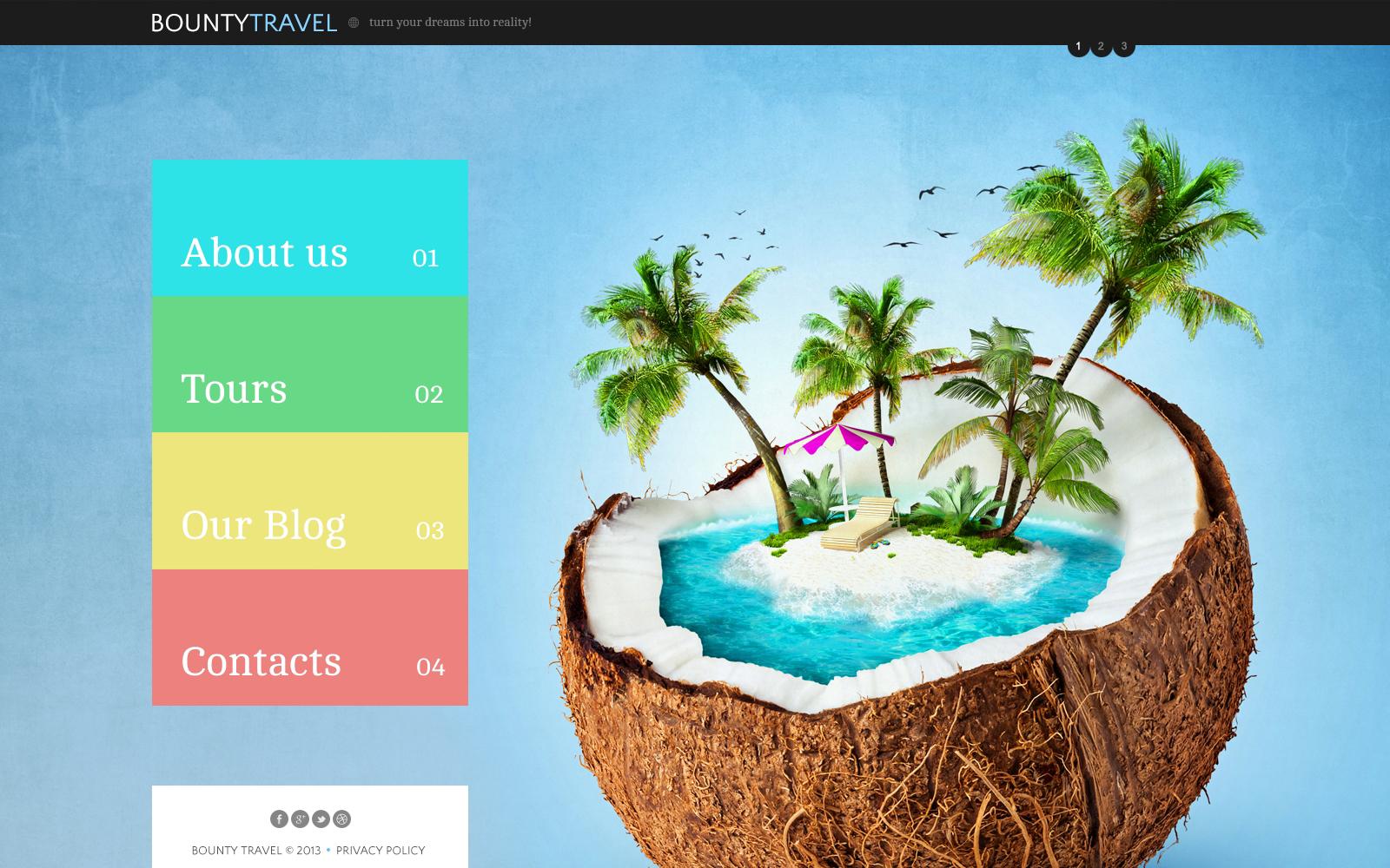 """""""Société de voyages"""" thème Joomla adaptatif #46037 - screenshot"""