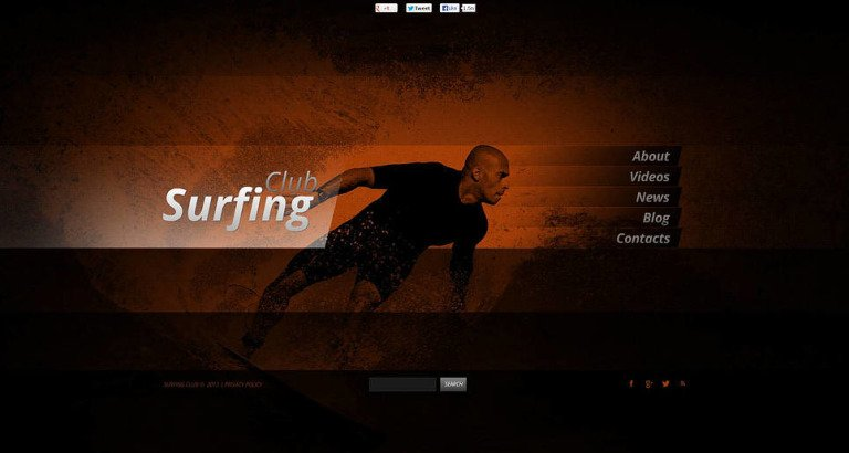 Surfing Flash CMS Template New Screenshots BIG