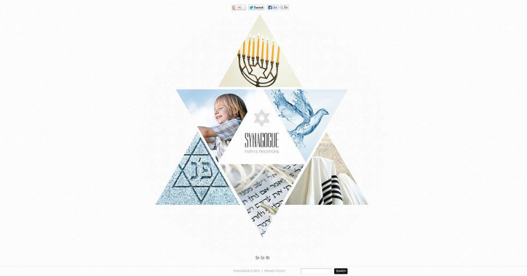 Synagogue Flash CMS Template New Screenshots BIG