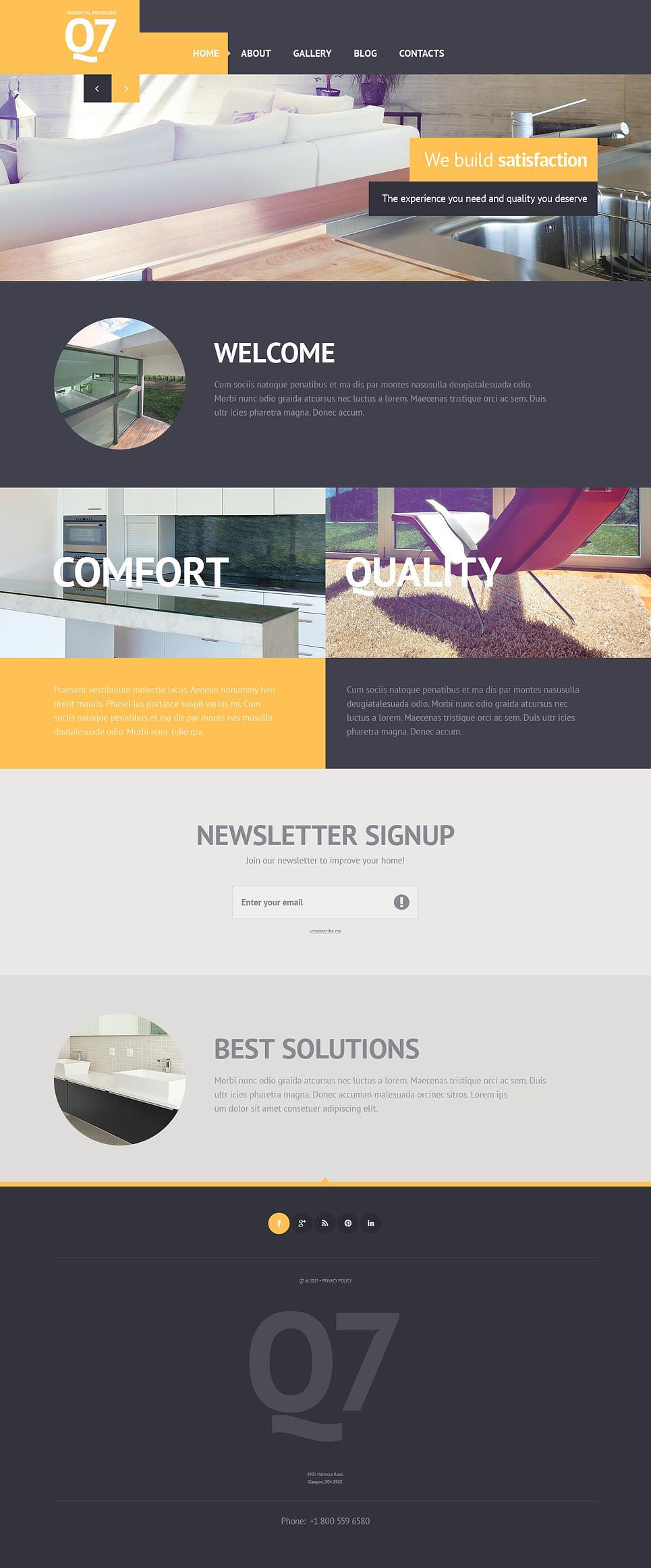 Template siti web 46032 per un sito di design di interni for Siti design interni