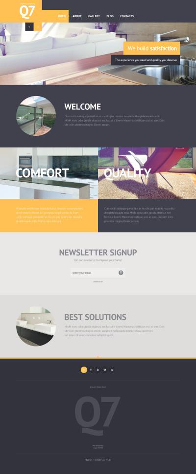 Flexível template Web №46032 para Sites de Design Interior