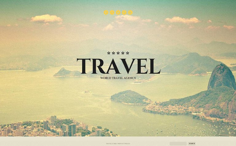 travel agency flash cms template 46060