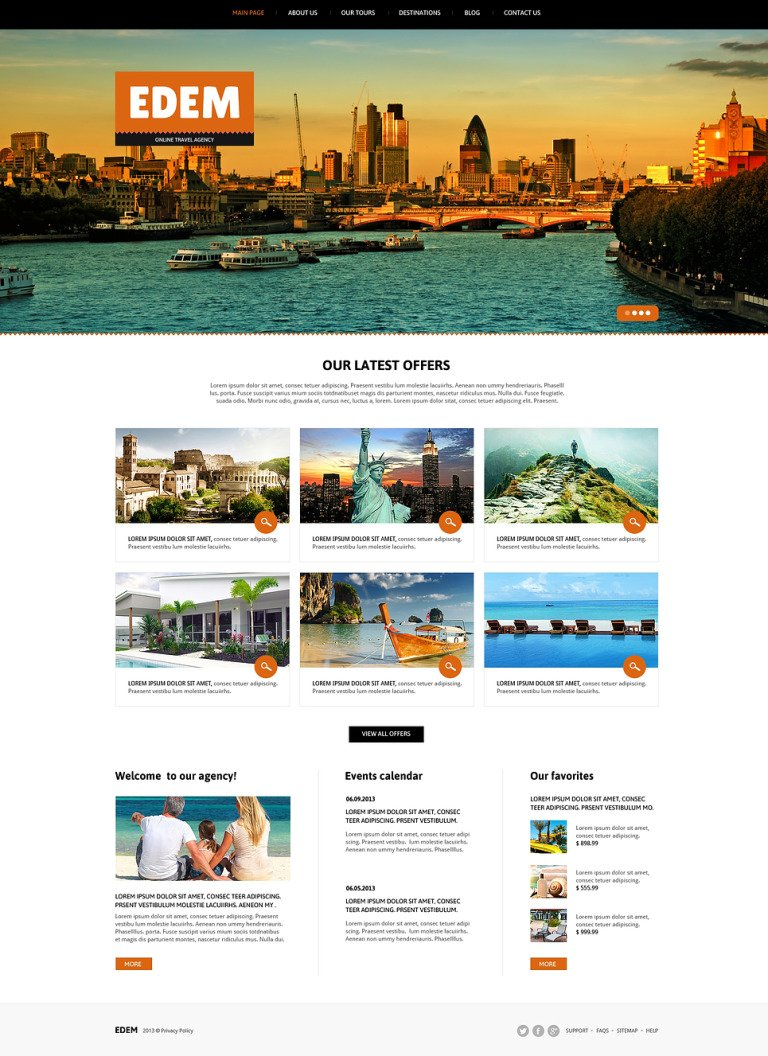 Travel Agency Responsive Joomla Template New Screenshots BIG