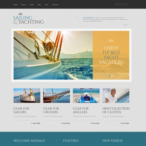 Sailing & Yachting - WordPress Template based on Bootstrap