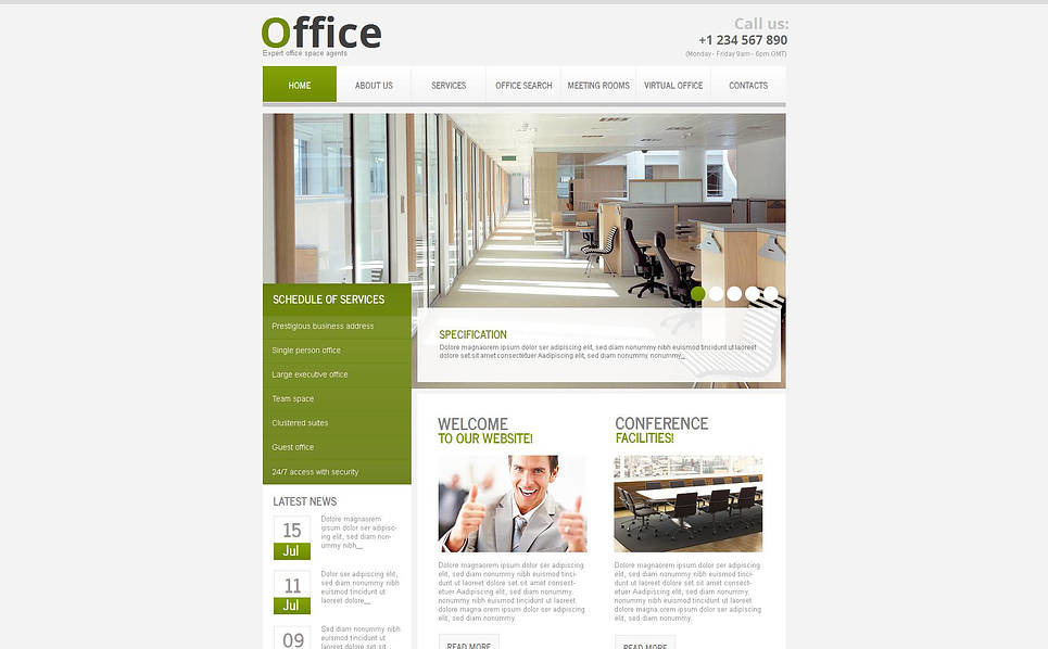 Premium Ofis  Moto Cms Html Şablon New Screenshots BIG