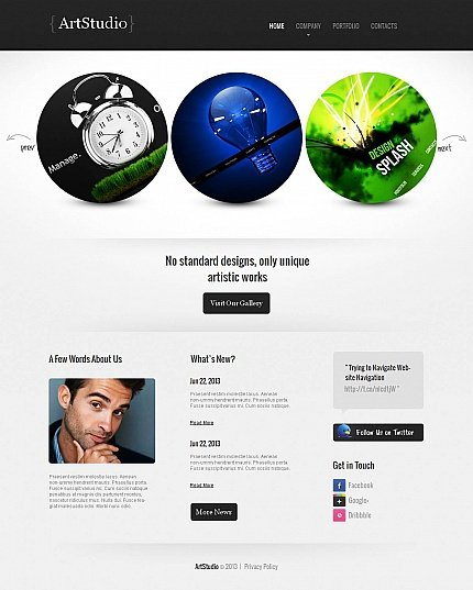 ADOBE Photoshop Template 46103 Home Page Screenshot