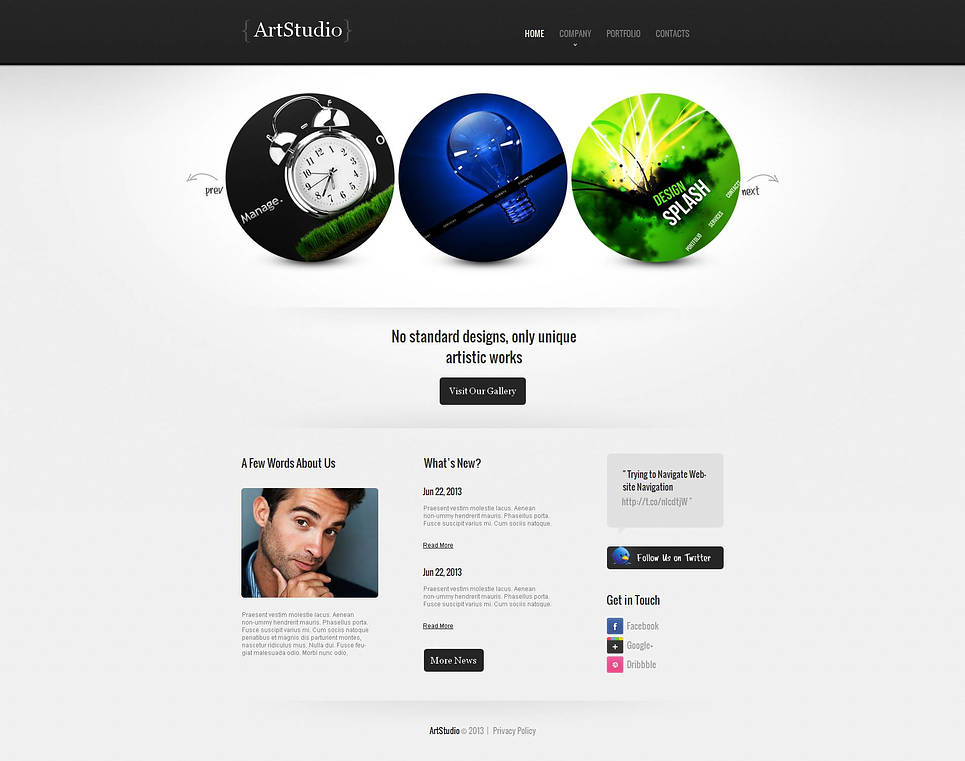 Web Design Lab Template with Creative Image Slider - image