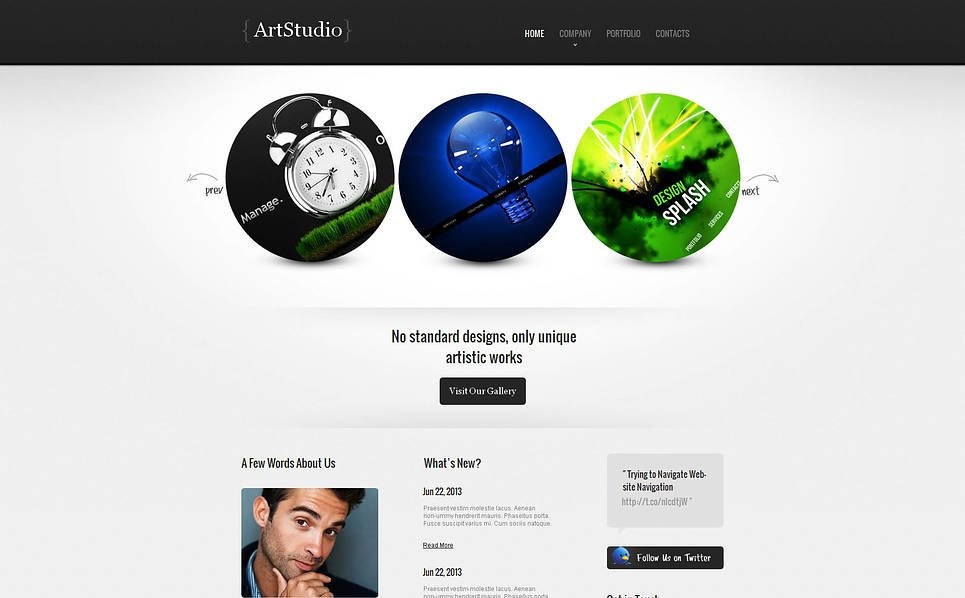 Modèle Moto CMS HTML  pour site de design web New Screenshots BIG