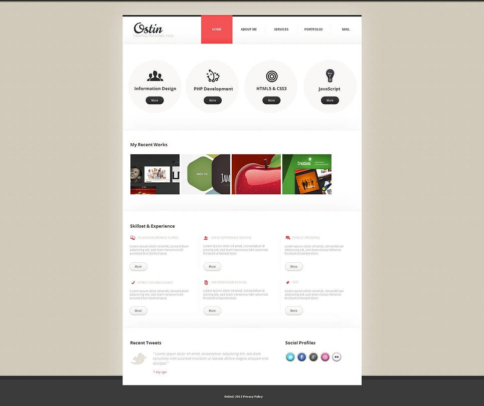 Web Design Agency Template with 2 Sliding Thumbnail Galleries - image