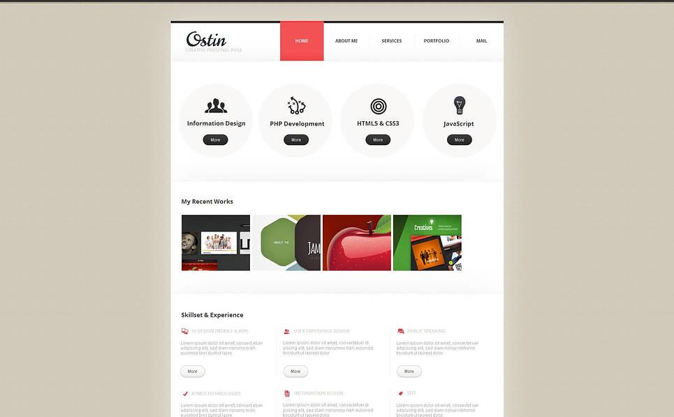 Template Moto CMS HTML para Sites de Portfólio de Designer №46104 New Screenshots BIG