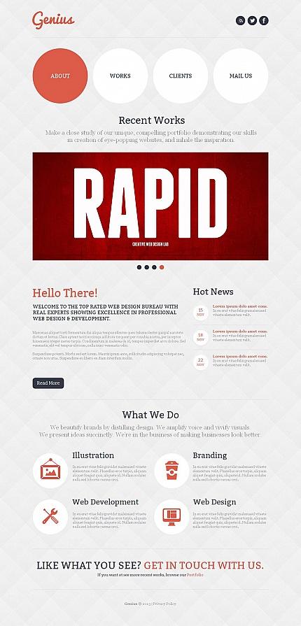 ADOBE Photoshop Template 46107 Home Page Screenshot
