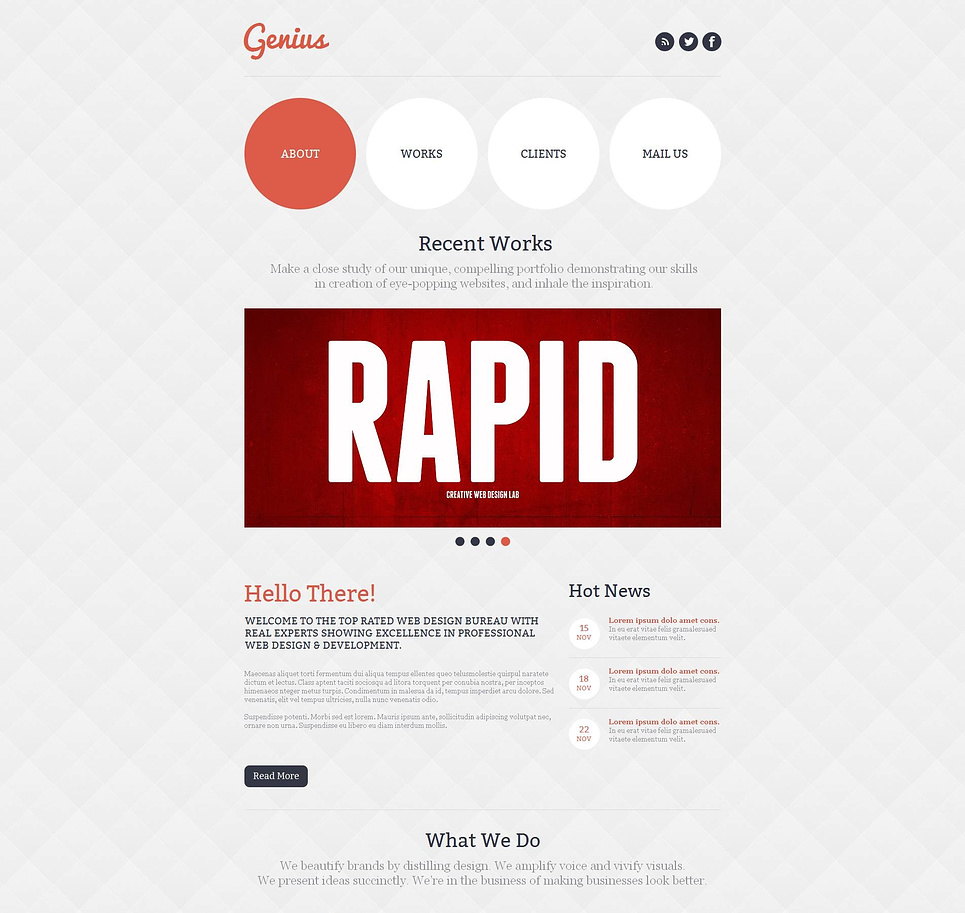 Website Template with Projects Catalogue for Web Developers - image