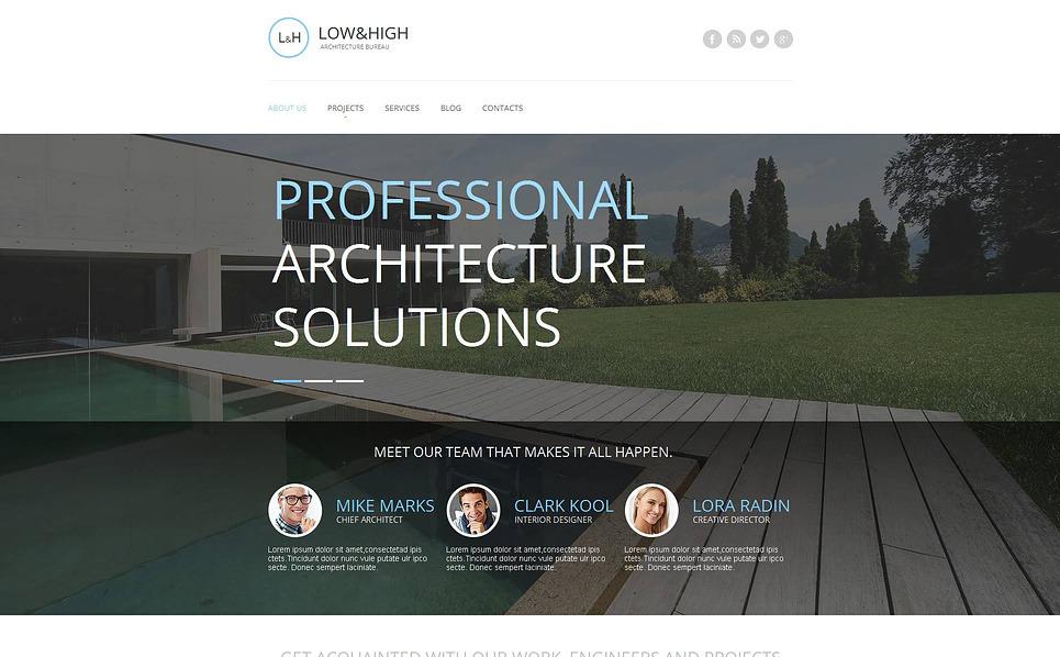 Moto CMS HTML Vorlage für Baufirma  New Screenshots BIG