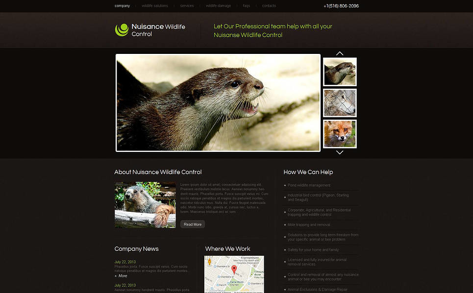 Moto CMS HTML Vorlage für Tierwelt  New Screenshots BIG