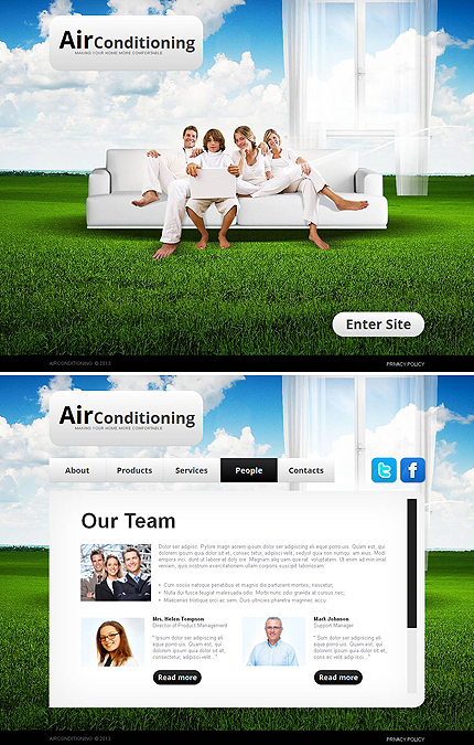 ADOBE Photoshop Template 46120 Home Page Screenshot