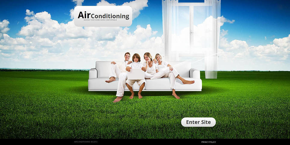 Premium Moto CMS HTML Template over Airconditioning  New Screenshots BIG