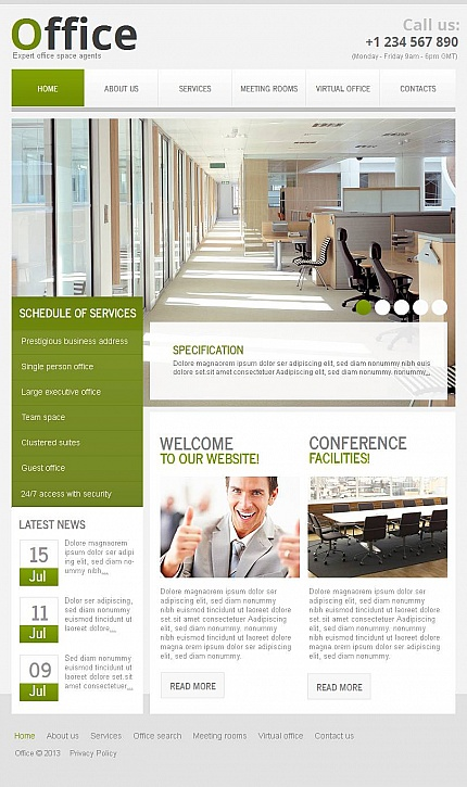 ADOBE Photoshop Template 46123 Home Page Screenshot