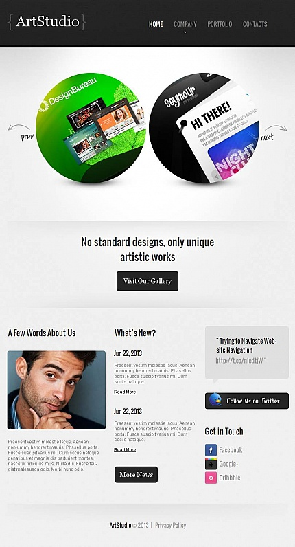 ADOBE Photoshop Template 46124 Home Page Screenshot