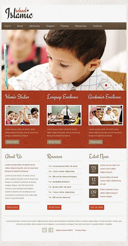 ADOBE Photoshop Template 46131 Home Page Screenshot