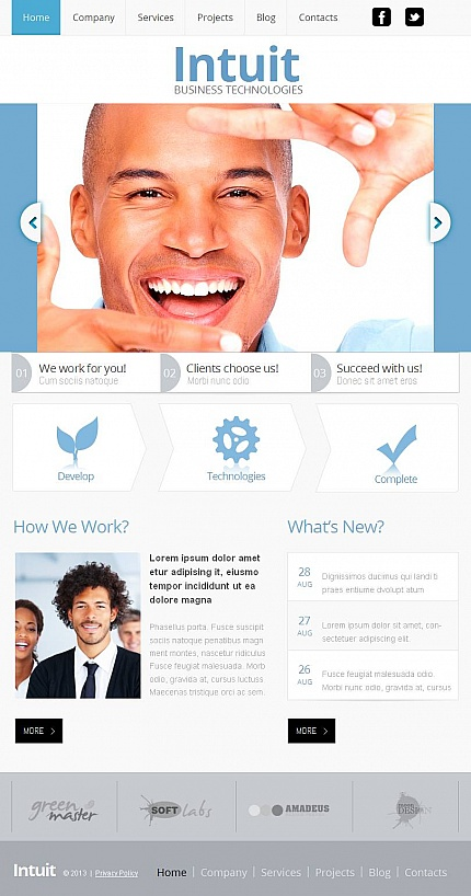 ADOBE Photoshop Template 46132 Home Page Screenshot