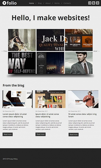 ADOBE Photoshop Template 46134 Home Page Screenshot