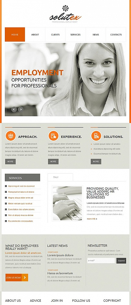 ADOBE Photoshop Template 46138 Home Page Screenshot