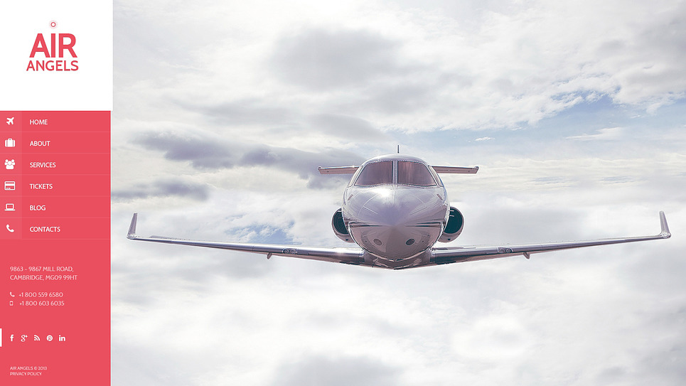 Bootstrap Website template over Privé Luchtvaartmaatschappij  New Screenshots BIG