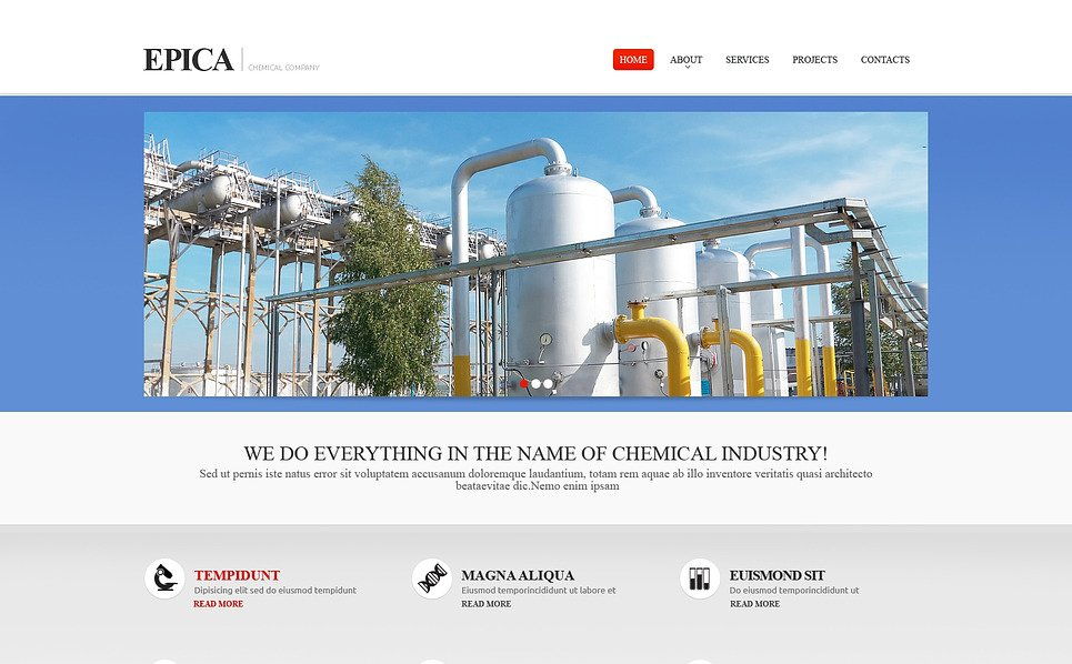 Responsive Website template over Industriele New Screenshots BIG