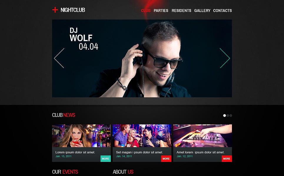 Responsive Gece Kulübü  Web Sitesi Şablonu New Screenshots BIG