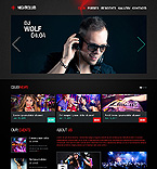Night Club Website  Template 46156
