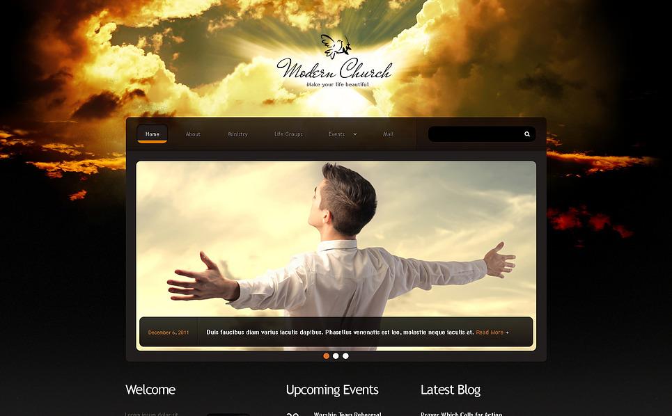 Responsywny szablon strony www #46157 na temat: chrześcijaństwo New Screenshots BIG