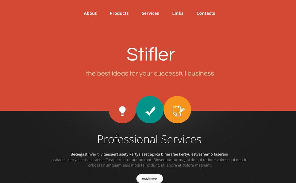 Reszponzív Könyvelési weboldal  Weboldal sablon New Screenshots BIG