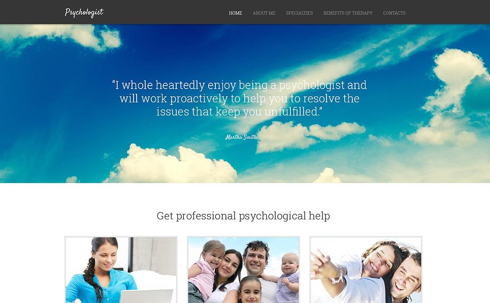 Responzivní Šablona webových stránek na téma Psycholog New Screenshots BIG