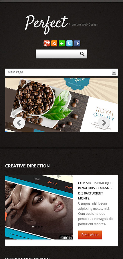 Joomla Theme/Template 46168 Main Page Screenshot
