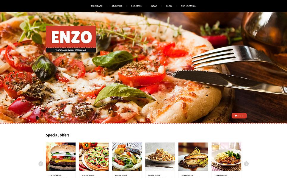 Modello Joomla Responsive #46172 per Un Sito di Ristorante Italiano New Screenshots BIG