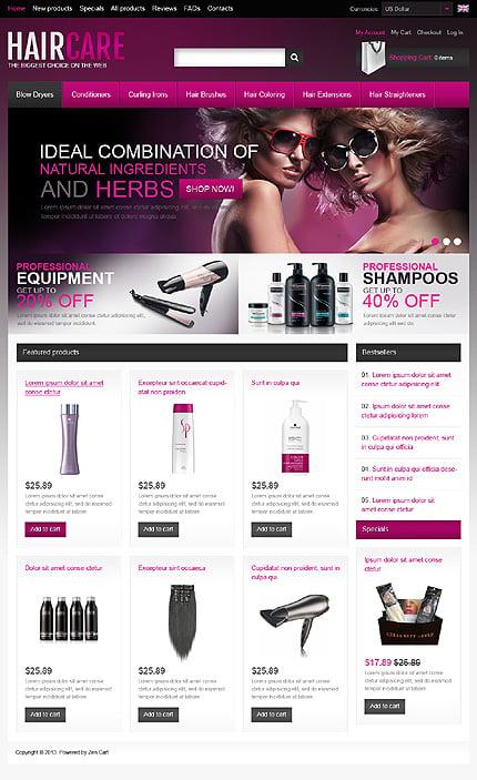 ZenCart Template 46174 Main Page Screenshot