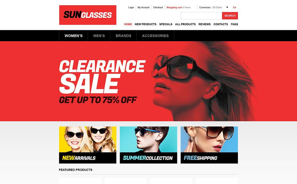 ZenCart шаблон на тему окуляри New Screenshots BIG