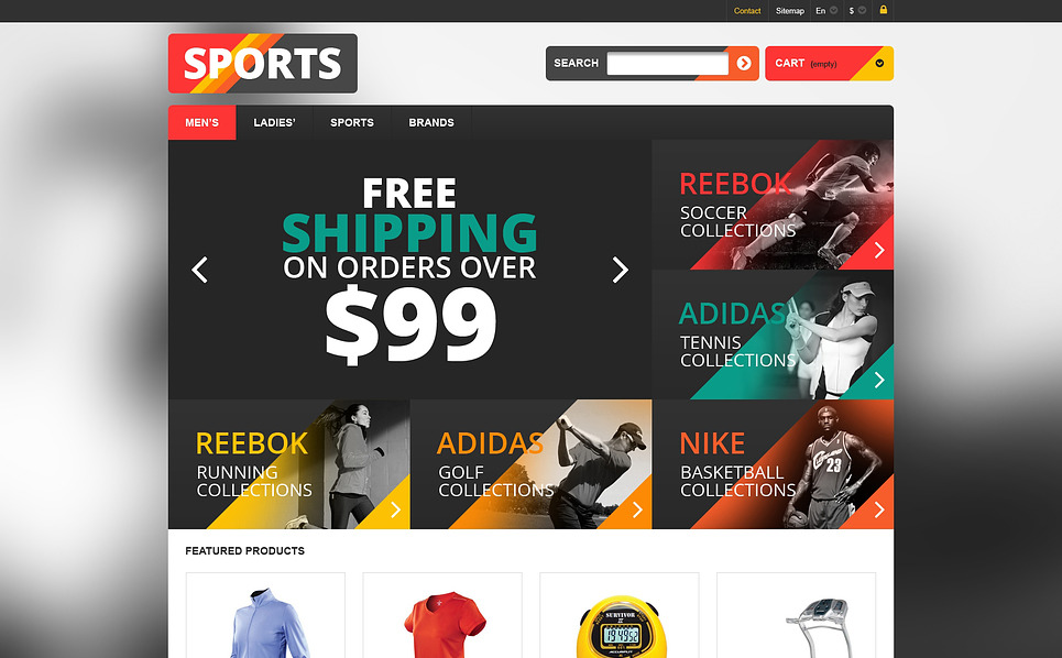 Tema PrestaShop  Flexível para Sites de Loja de Esporte №46188 New Screenshots BIG