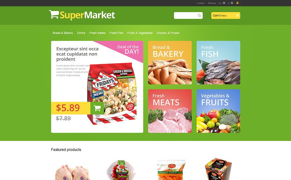 Адаптивний PrestaShop шаблон на тему продуктовий магазин New Screenshots BIG