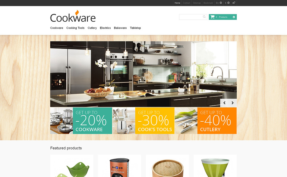 Responsive PrestaShop Thema over Housewares New Screenshots BIG