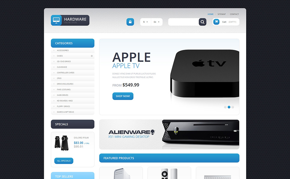 Responsive Bilgisayar Mağazası  Prestashop Teması New Screenshots BIG