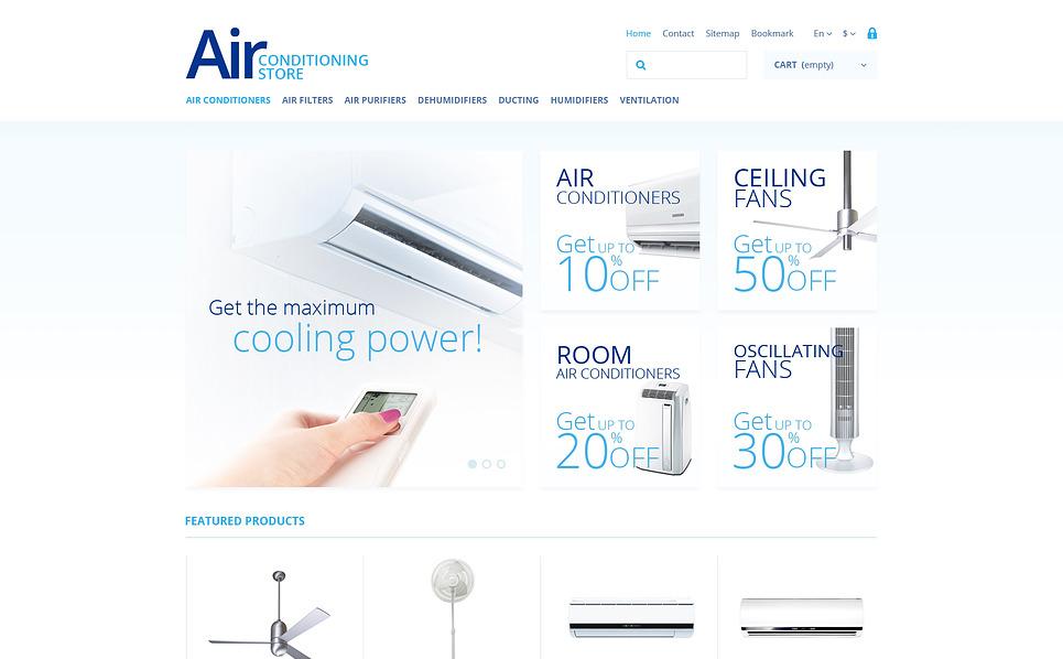 Responsives PrestaShop Theme für Klimaanlage  New Screenshots BIG