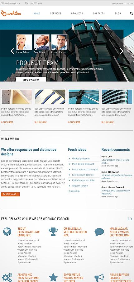Joomla Theme/Template 46194 Main Page Screenshot