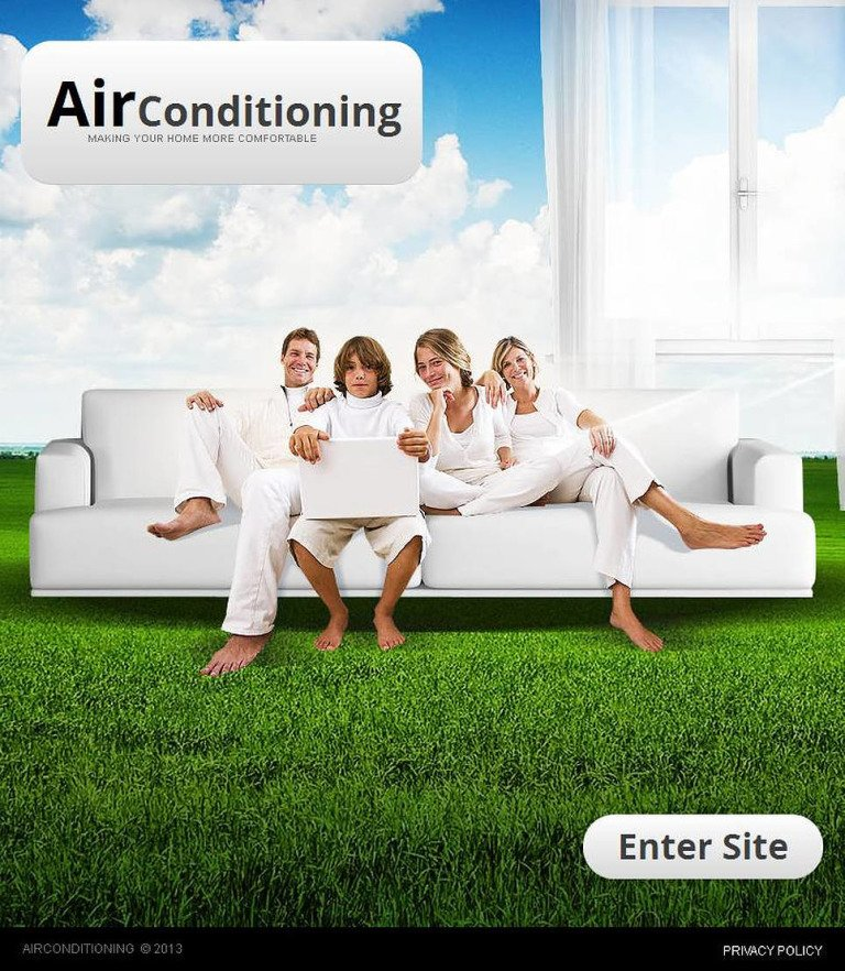 Air Conditioning Facebook HTML CMS Template New Screenshots BIG