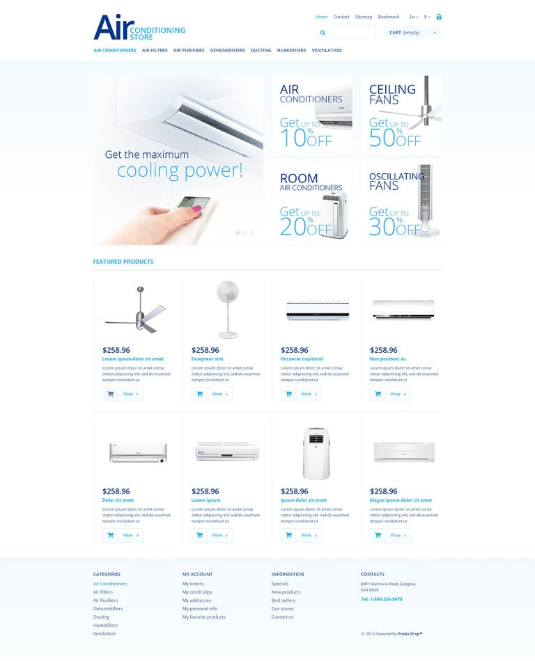 Air Conditioning Store PrestaShop Theme New Screenshots BIG