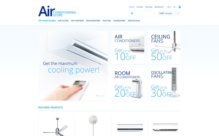 Air Conditioning Store PrestaShop Theme