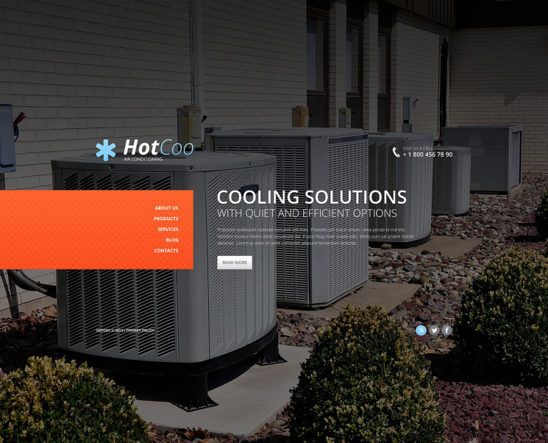 Air Conditioning Website Template New Screenshots BIG